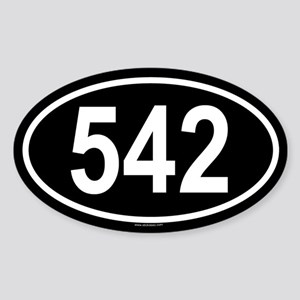 542 Oval Sticker