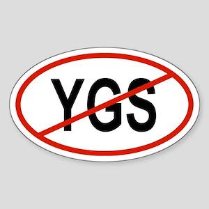YGS Oval Sticker