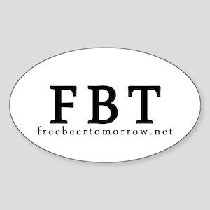 [FBT] FreeBeerTomorrow.net's Oval Sticker
