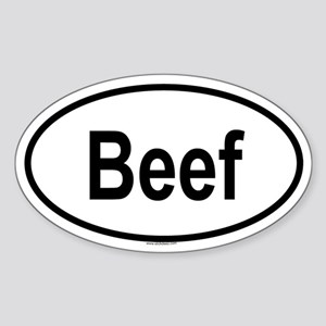 BEEF Oval Sticker