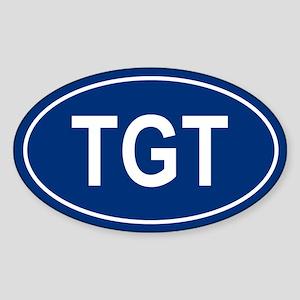 TGT Oval Sticker