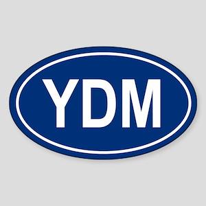 YDM Oval Sticker
