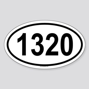 1320 Oval Sticker