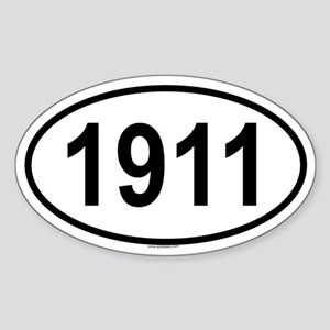 1911 Oval Sticker