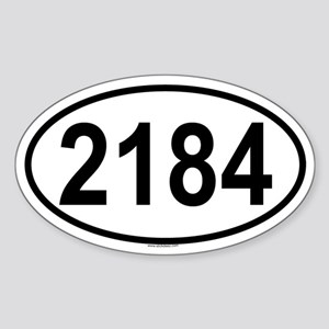 2184 Oval Sticker