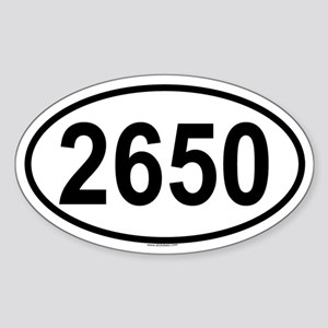 2650 Oval Sticker