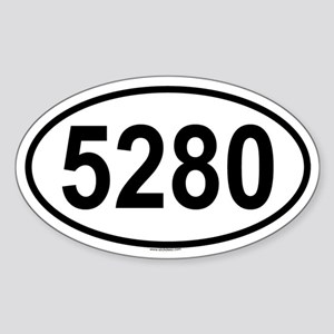 5280 Oval Sticker