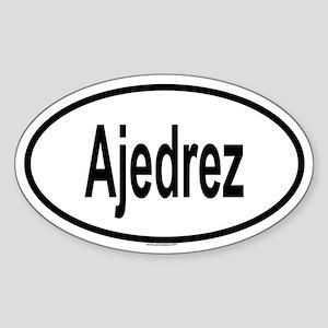 AJEDREZ Oval Sticker