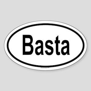 BASTA Oval Sticker