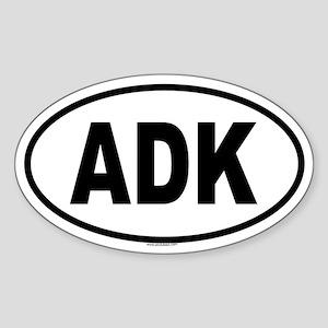 ADK Oval Sticker