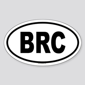 BRC Oval Sticker