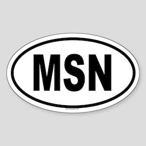 MSN Oval Sticker