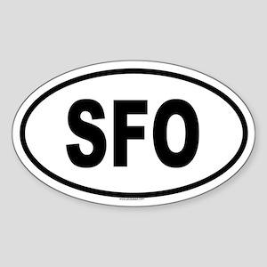 SFO Oval Sticker