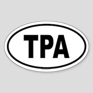 TPA Oval Sticker