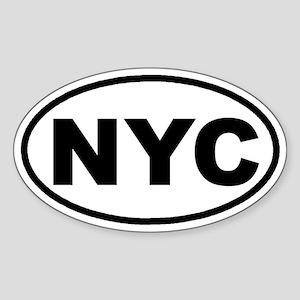 NYC New York City Euro Oval Sticker
