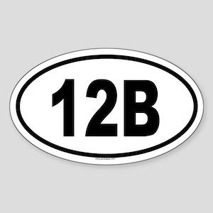 12B Oval Sticker