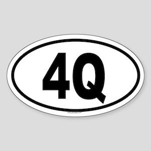 4Q Oval Sticker