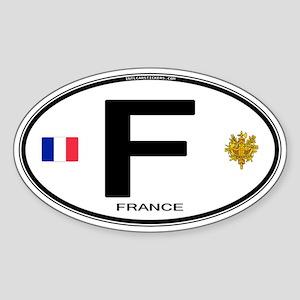 France Euro Oval Sticker (Oval)