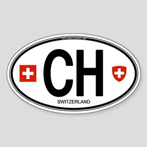 Switzerland Euro Oval Oval Sticker