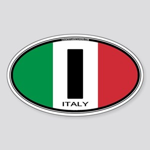 Italy Oval Colors Oval Sticker