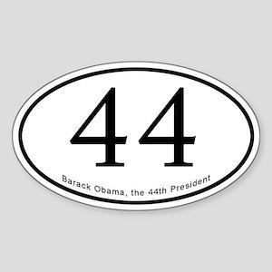 Barack Obama 44th President Oval Sticker