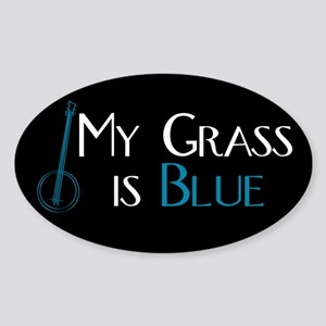 My Grass is Blue Rectangle Sticker