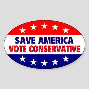 Save America Oval Sticker