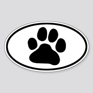 Paw Print Sticker (Oval)