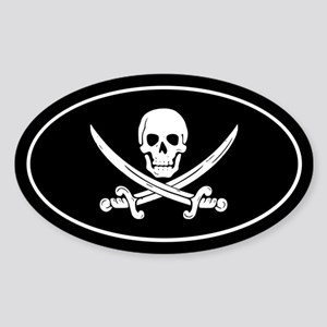 Pirate Sticker (Oval)