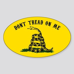 Don't Tread on Me Sticker (Oval)