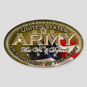 Army: Sticker (Oval)