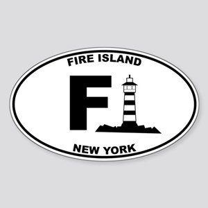 Fire Island Lighthouse Sticker (Oval)