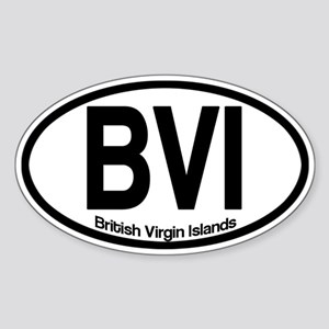 British Virgin Islands Sticker (Oval)