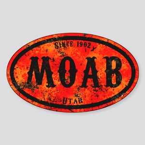 Moab Safety Orange Derelict Sticker (Oval)