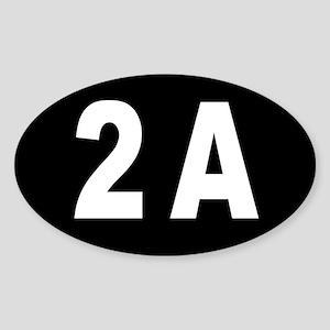 2A - 2nd Amendment Sticker (oval)