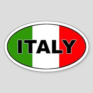 Italy (Italia) Flag Oval Sticker