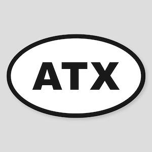 Austin Texas Oval Sticker