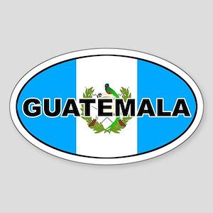 Flag of Guatemala Oval Sticker