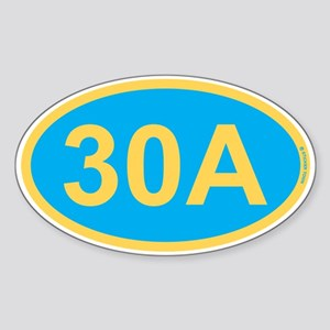 30A Florida Emerald Coast Sticker (Oval)