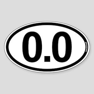 0.0 Zero Marathon Runner Sticker (Oval)