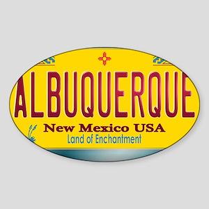 newmexico_licenseplate_albuquerque Sticker (Oval)
