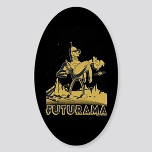 Futurama Bender and Fry Sticker (Oval)