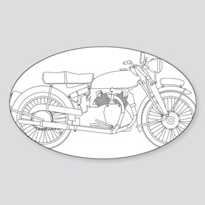 Motor Cycle Outline Sticker