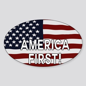 AMERICA FIRST! USA flag Sticker