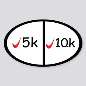 5k and 10k completed Sticker