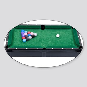 Pool Table Oval Sticker