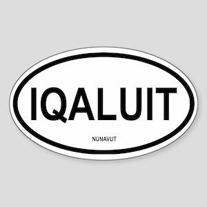 Iqaluit Oval Sticker