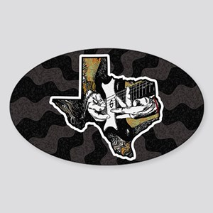Texas Guitar Sticker (Oval)