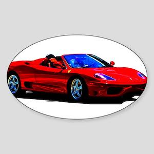 Red Ferrari - Exotic Car Sticker