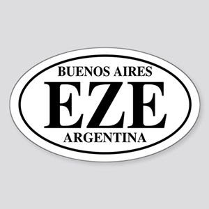 EZE Buenos Aires Oval Sticker